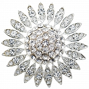 Crystal Sunflower Wedding Pin