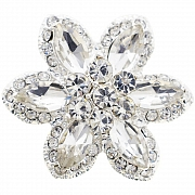 Crystal Flower Wedding Pin