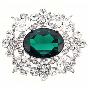 Emerald Flower Pin Wedding Pin Brooch And Pendant