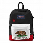 JanSport SuperBreak School Backpack - RED NEW CALIFORNIA REPUBLIC