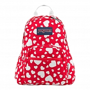 JanSport HALF PINT BACKPACK - HIGH RISK RED HEART TO RESIST