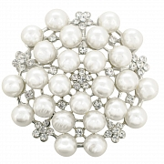 Small Ivory Pearl Flower Wedding Brooch Pin