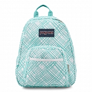 JanSport HALF PINT BACKPACK - AQUA DASH JAGGED PLAID