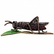 Vintage Style Ruby Grasshopper Locust Austrian Crystal Red Insect Pin Brooch