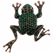 Emerald Green Baby Vintage Frog Pin Animal Pin Brooch