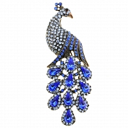 Light Sapphire Crystal Vintage Style Peacock Brooch Pin