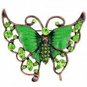Greeb Butterfly Crystal Pin Brooch