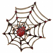 Ruby Red Spider Pin Brooch And Pendant(Chain Not Included)