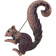 Vintage Style Amethyst Squirrel Austrian Crystal Animal Pin Brooch