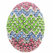 Multicolor Easter Egg Pin Holiday Pin Brooch
