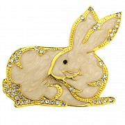 King Hare Rabbit Animal Pin Brooch