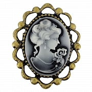Vintage Style Cameo Pin Brooch