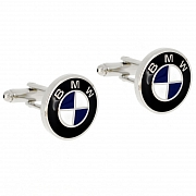 BMW Logo Automotive Car Black And Blue Cufflinks