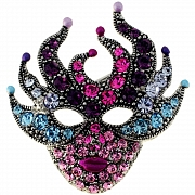 Masquerade Mask Swarovski Crystal Pin Fashion Pin Brooch
