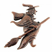Flying Witch Pin Halloween Pin Brooch