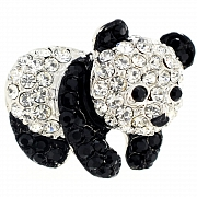 Crystal Panda Lapel Pin