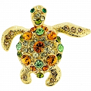 Golden Sea Turtle Lapel Pin