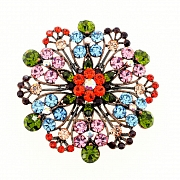 Multicolor Flower Wedding Pin Brooch And Pendant(Chain Not Included)