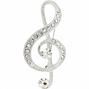 Music Note Pin Austrian Crystal Music Pin Brooch