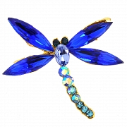 Sapphire Blue Dragonfly Pin