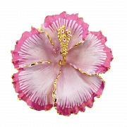 Fuchsia Pink Hawaiian Hibiscus Flower Pin Brooch/Pendant(Chain Not Included)