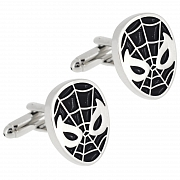 Black Enamel Spider-man Cufflinks