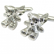 Teddy Bear Cufflinks Silver Animal Cuff links