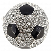 Black And White Soccer Ball Sports Pin Brooch