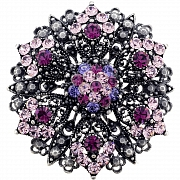 Amethyst Purple Flower Wedding Pin Brooch And Pendant(Chain Not Included)