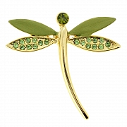Green Dragonfly Lapel Pin