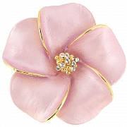 Pink Hawaiian Hibiscus Swarovski Crystal Flower pin brooch and Pendant