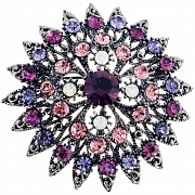Amethyst Flower Bridal Wedding Pin Brooch and Pendant(Chain Not Included)