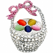 Easter Basket Pin Austrian Crystal Fashion Brooch Pin