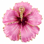 Violet Hawaiian Hibiscus PinFlower Pin Brooch And Pendant