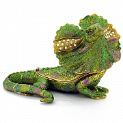Green Lizard Trinket Box with Swarovski Crystal