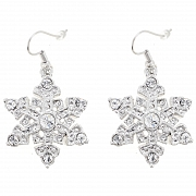 Snow Flake Swarovski Crystal Christmas Earring