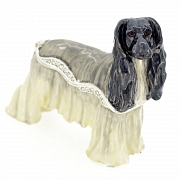 Afghan Hound Box Trinket Box With Swarovski Crystal