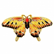Mutlicolor Butterfly Trinket Box With Swarovski Crystal