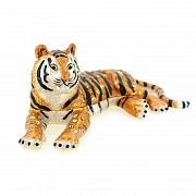 Tiger Trinket Box With Swarovski Crystal